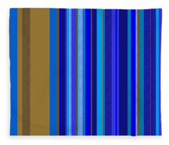 Large Blue Abstract - Panel Two Fleece Blanket