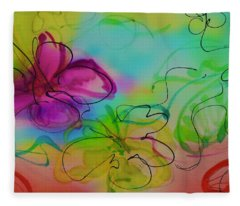Large Flower 2 Fleece Blanket