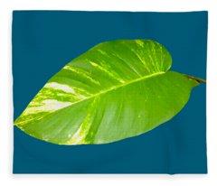 Large Leaf Art Fleece Blanket