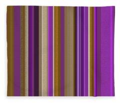 Large Purple Abstract - Three Fleece Blanket