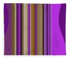 Large Purple Abstract Fleece Blanket