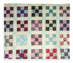 Large Quilt Fleece Blanket