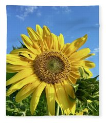 Large Sunflower Fleece Blanket