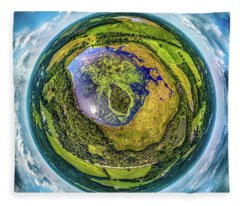 Larkin Lake Little Planet Fleece Blanket
