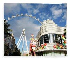 Las Vegas Ferris Wheel 1 Fleece Blanket