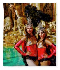 Las Vegas Showgirls Fleece Blanket