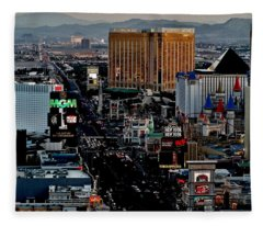 Las Vegas Strip Fleece Blanket