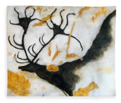 Lascaux Megaceros Deer 2 Fleece Blanket
