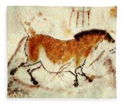 Lascaux Prehistoric Horse Fleece Blanket