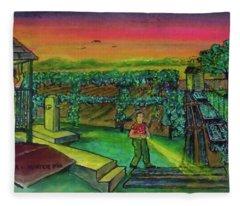Last Call For The Toilet Sardinia Ohio Fleece Blanket