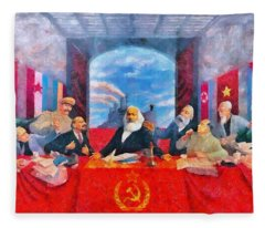 Last Communist Supper 30 - Da Fleece Blanket