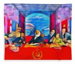 Last Communist Supper 40 - Da Fleece Blanket
