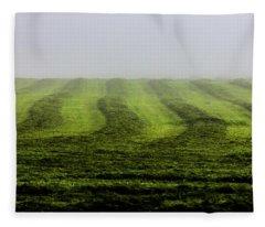 Last Cut Of Hay Fleece Blanket