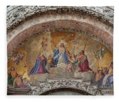 Last Judgement Mosaic On St Marks Cathedral Venice Fleece Blanket