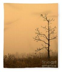 Last Leaves Fleece Blanket