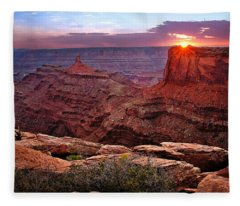 Last Light At Dead Horse Point Fleece Blanket