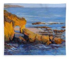 The Golden Hour / Laguna Beach Fleece Blanket