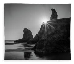 Last Light On The Coast Fleece Blanket