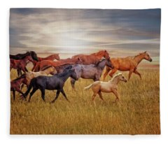 Last Light's Run Fleece Blanket