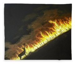 Last Look Back Home Fleece Blanket