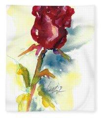 Last Rose Of Summer Fleece Blanket