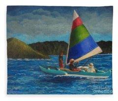Last Sail Before The Storm Fleece Blanket