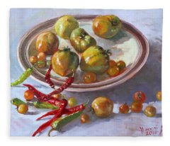 Last Tomatoes From My Garden Fleece Blanket