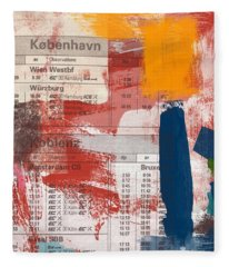 Last Train To Kobenhavn- Art By Linda Woods Fleece Blanket