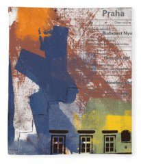Last Train To Prague- Art By Linda Woods Fleece Blanket