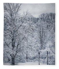 Winter Scenery Fleece Blankets