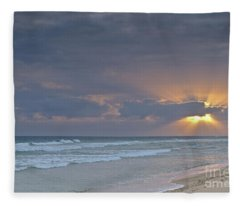 Late Afternoon In Ilha Deserta. Algarve Fleece Blanket