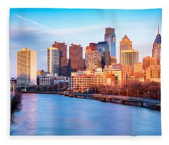 Late Afternoon In Philadelphia Fleece Blanket