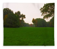 Late Afternoon In The Park Fleece Blanket