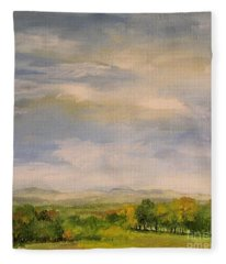 Late Afternoon In Vermont  Fleece Blanket