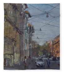 Late Afternoon Light - Regina Margherita -rome Fleece Blanket