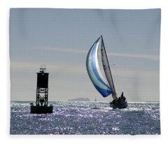 Late Afternoon Sail Fleece Blanket
