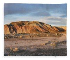 Late Light At Painted Desert Fleece Blanket