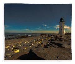 Late Light At The Light Fleece Blanket