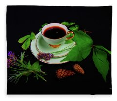 Late Summer Coffee Fleece Blanket