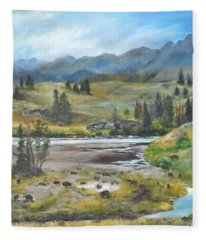 Late Summer In Yellowstone Fleece Blanket