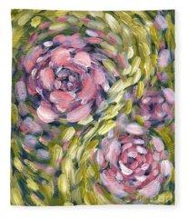 Late Summer Whirl Fleece Blanket
