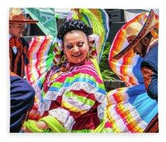 Latino Street Festival Dancers Fleece Blanket