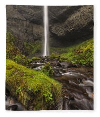 Latourell Falls Fleece Blanket