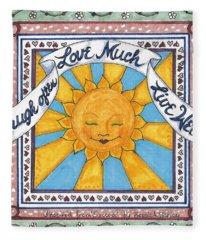 Laugh Love Live Fleece Blanket