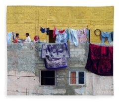 Laundry In Guanajuato Fleece Blanket