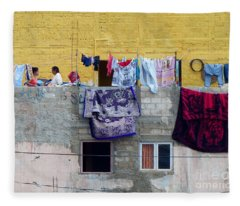 Laundry In Guanajuato Fleece Blanket