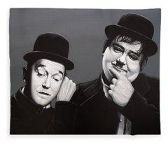Laurel And Hardy Fleece Blanket