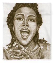 Lauryn Hill Fleece Blanket