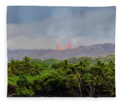 Lava Fountain Fleece Blanket