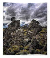 Lava Rock And Clouds Fleece Blanket